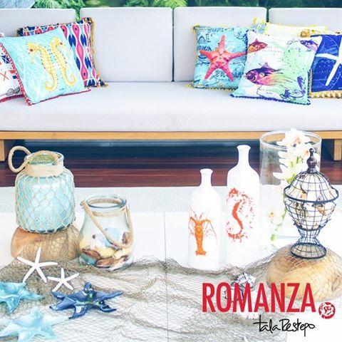 Enamórate más del #mar y su magía con estos diseños exclusivos de @tala restrepo lopez que #Romanza trae para tí. #Marino #Sea #Beach #DecoraciónMedellín
