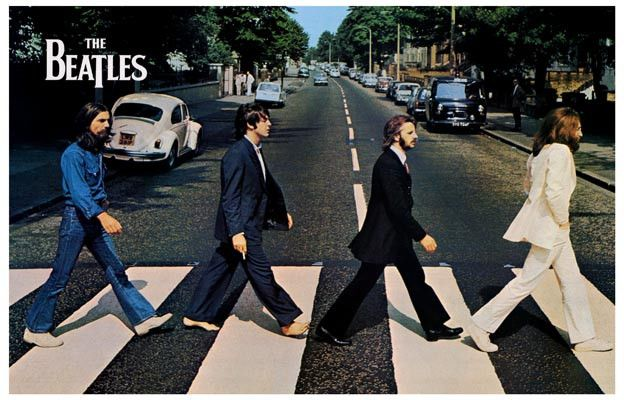 beatles abbey road album cover poster 11x17 album products and paul mccartney. Black Bedroom Furniture Sets. Home Design Ideas