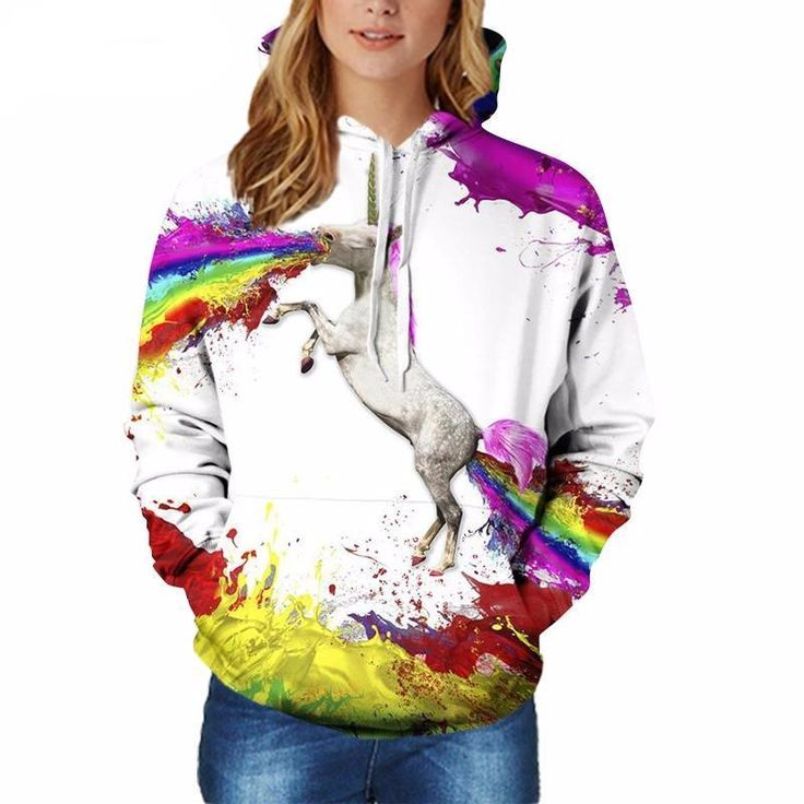 New Unisex Hoodies Unicorn Print 3D Sweatshirt |