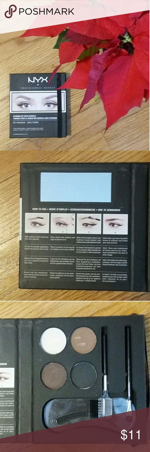 NYX Professional Makeup Eyebrow Kit with Stencils NYX