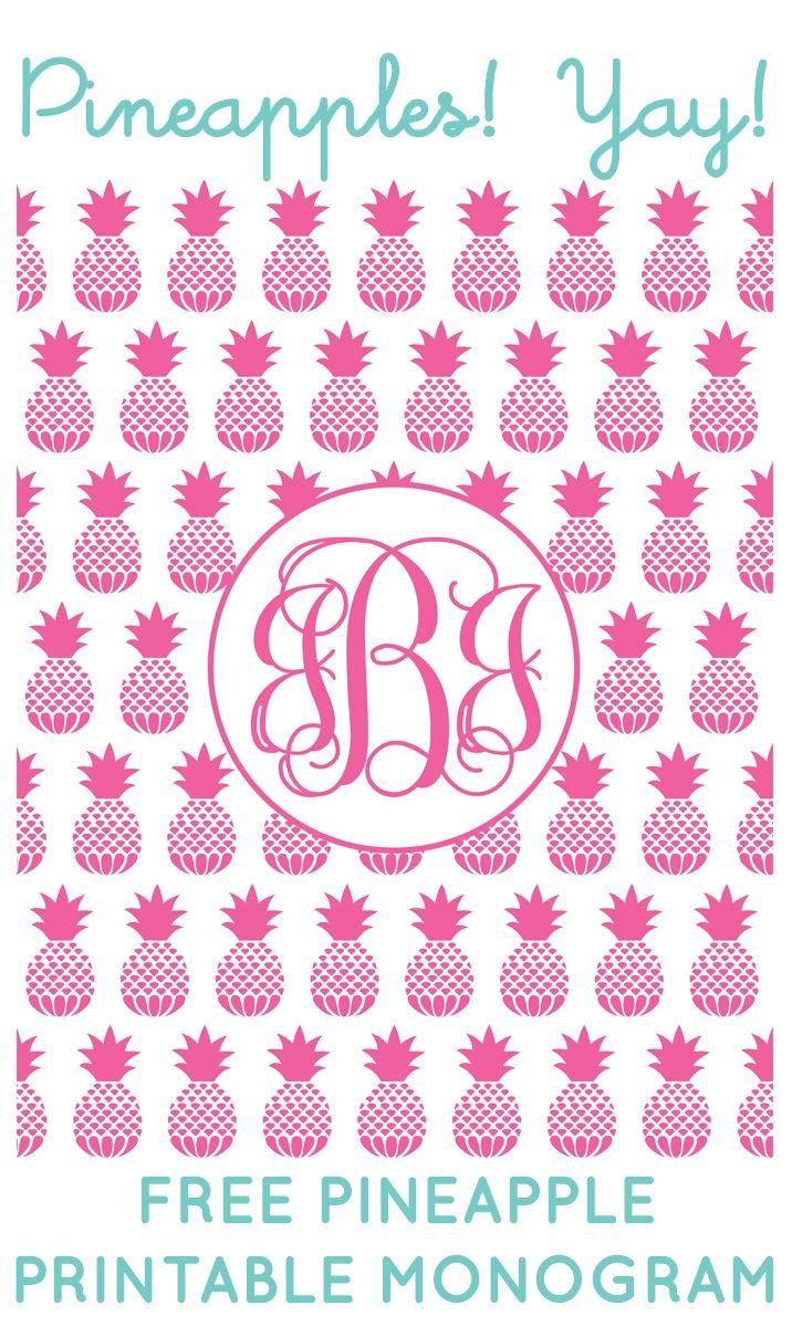 Free Pineapple Printable Monogram Maker From Chicfetti