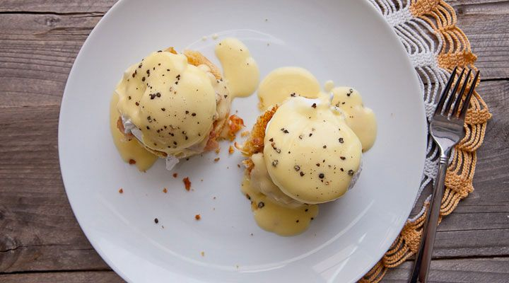 Classic Eggs Benedict - My take on Duff Goldman's Eggs Benedict recipe from his appearance on Food Fighters. Perfect for breakfast or brunch.
