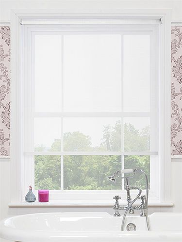 Vista White Magic Screen Roller Blind from Blinds 2go