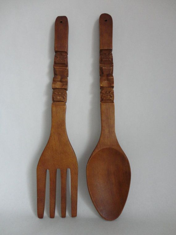 44 best vintage wood spoon fork images on pinterest wooden spoon wood spoon and fork. Black Bedroom Furniture Sets. Home Design Ideas