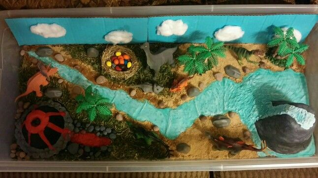 how to make a mountain diorama kids science