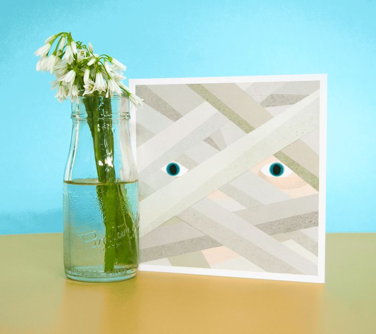 This is how we do GET WELL SOON here at U Studio. Lovely card by Jasmine Hortop.   #getwellsoon #bandages #hospital #flowers #cards #greetingcards #stationery #productphotography