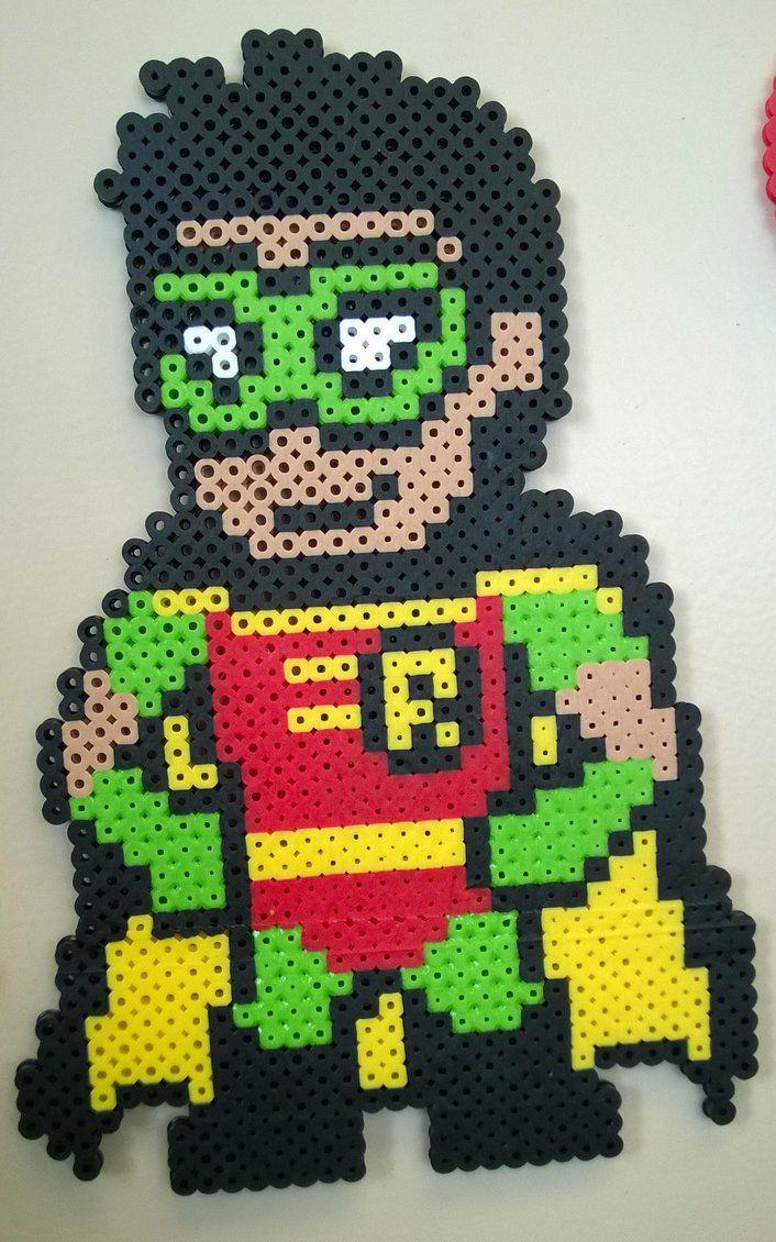 Perler Robin from Batman by Slimer530