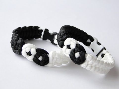 How to Make a Yin Yang Paracord Bracelet- Yin Yang Knot by CreationsByS - YouTube