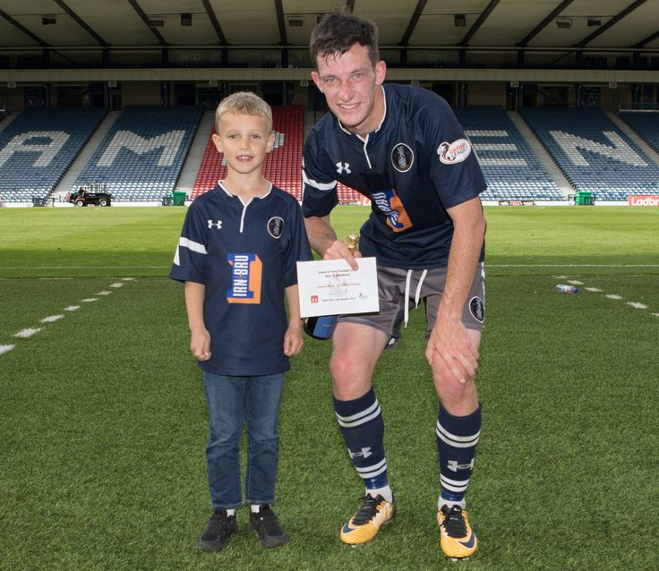 Queen's Park's David Galt Man of the Match after the SPFL League One game between Queen's Park and Albion Rovers.