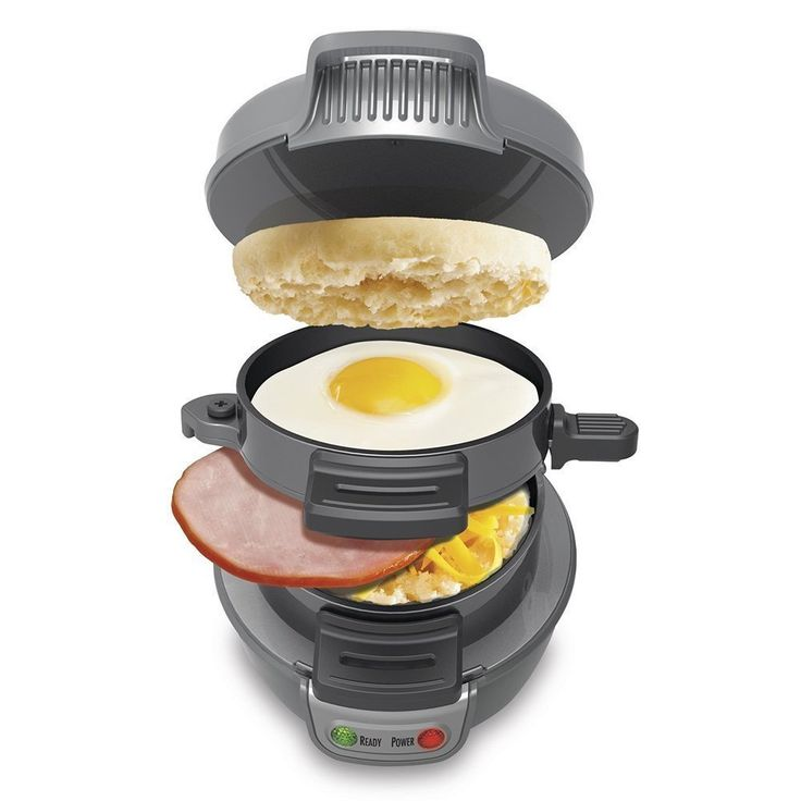 Cooking@Home Breakfast Electric Sandwich / Hamburger Maker, Grey