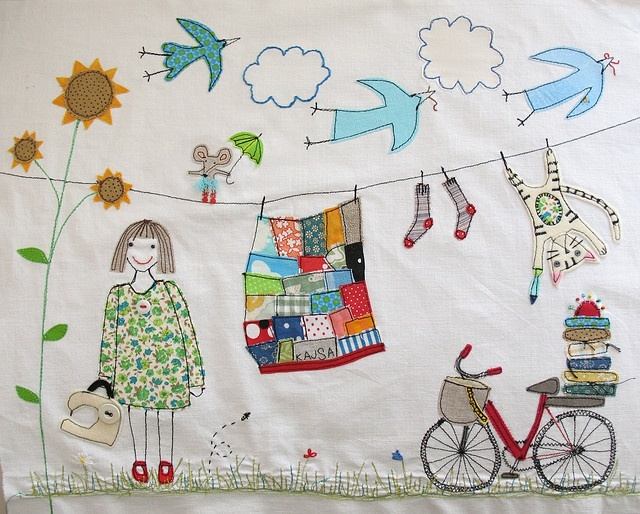By the textile artist Syko.  She is so very talented.  This was an interactive piece she did on Flickr. Love it!!!!