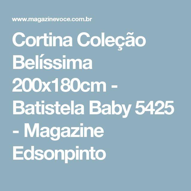 Cortina Coleção Belíssima 200x180cm - Batistela Baby 5425 - Magazine Edsonpinto