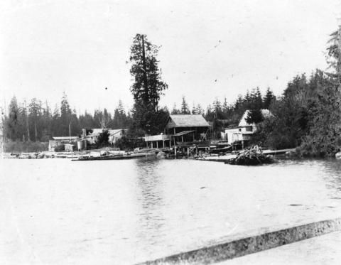 Fisherman's Cove Settlement on Coal Harbour at Brocton Point...1894