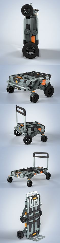 #EROVR is the uber-versatile folding cart-wagon system that's capable of transforming into a mover's dolly, #handcart, flat cart, hand truck or kid's wagon. It starts out as a folded case with a handle for easy #transportation between sites or storage under the bed or in the closet. With just a few simple and intuitive adjustments, the user can unfold and adapt the unit to their specific needs. #Yankodesign