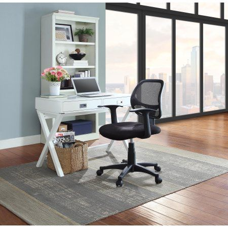 Mainstays Mesh Office Chair With Arms, Multiple Colors, Black