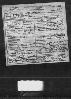 Tuesday's Tip: Shh! A Little Secret I Discovered in Online Michigan Death Records #genealogy #familyhistory