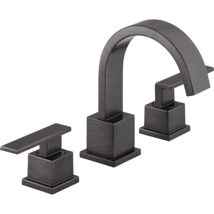 Delta Vero Widespread 2-Handle High Arc Venetian Bronze Bathroom Faucet 555982