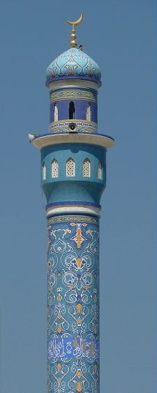 Oman minaret by mikeosbornphoto, via Flickr #Mosquée