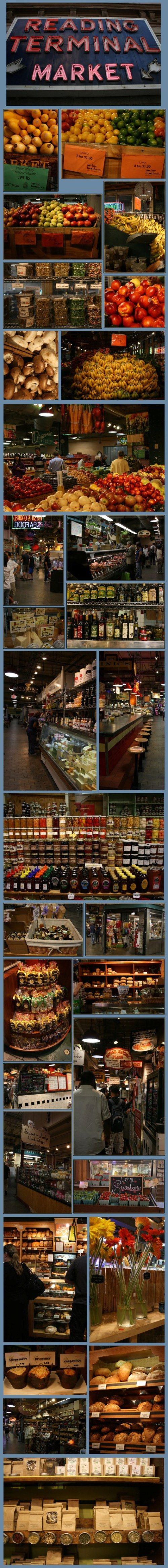 Reading Terminal Market, Philadelphia, PA.  A great place.....I could spend all day here!