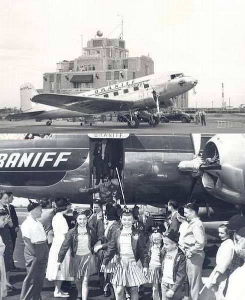 Will Rogers Airport. Braniff Airlines Delivers Mickey