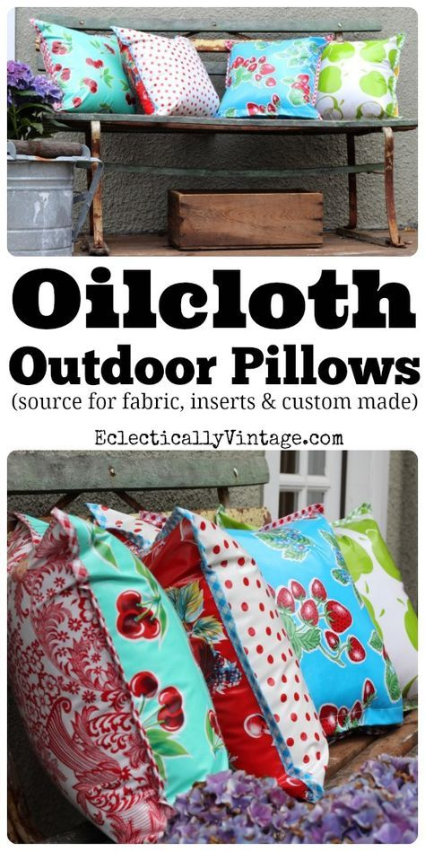 Oilcloth Fabric - Perfect for outdoors and a fun retro look! eclecticallyvintage.com
