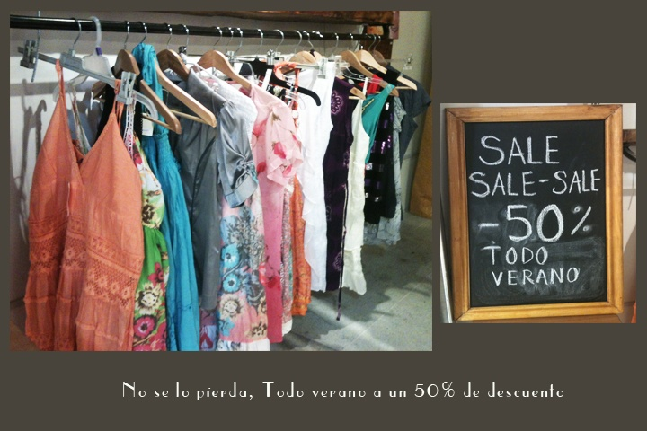 50 % de descuento ropa verano