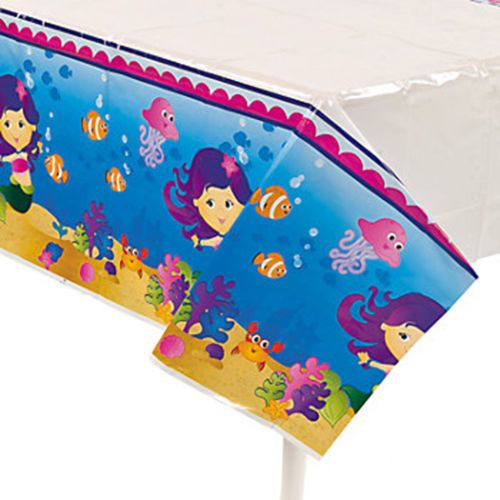 UNDER-THE-SEA-Mermaid-Tablecover-Plastic-Tablecloth
