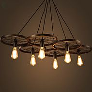 Lighting+Personality+Industrial+Loft+Style+Wrought+Iron+Chandelier+Restaurant+Bar+Cafe+Restaurant+Wheel+Chandelier+–+USD+$+289.99