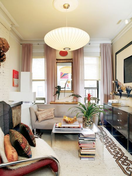 Small NYC Apartment Living Room NYapt Lucite