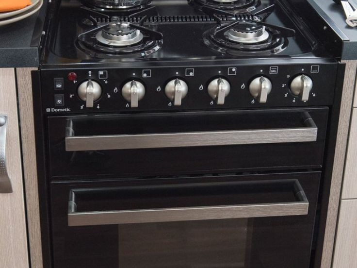 Four hot plates, a grill and an oven; what more could you ask for? This specific photo was taken of the C7923SL Esperance motorhome. Standard inclusions may differ across models.