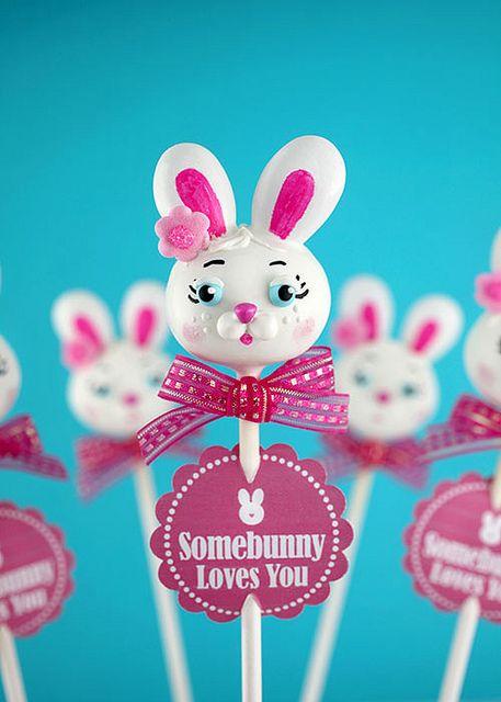 Easter Bunny Cake Pop by Bakerella, via Flickr