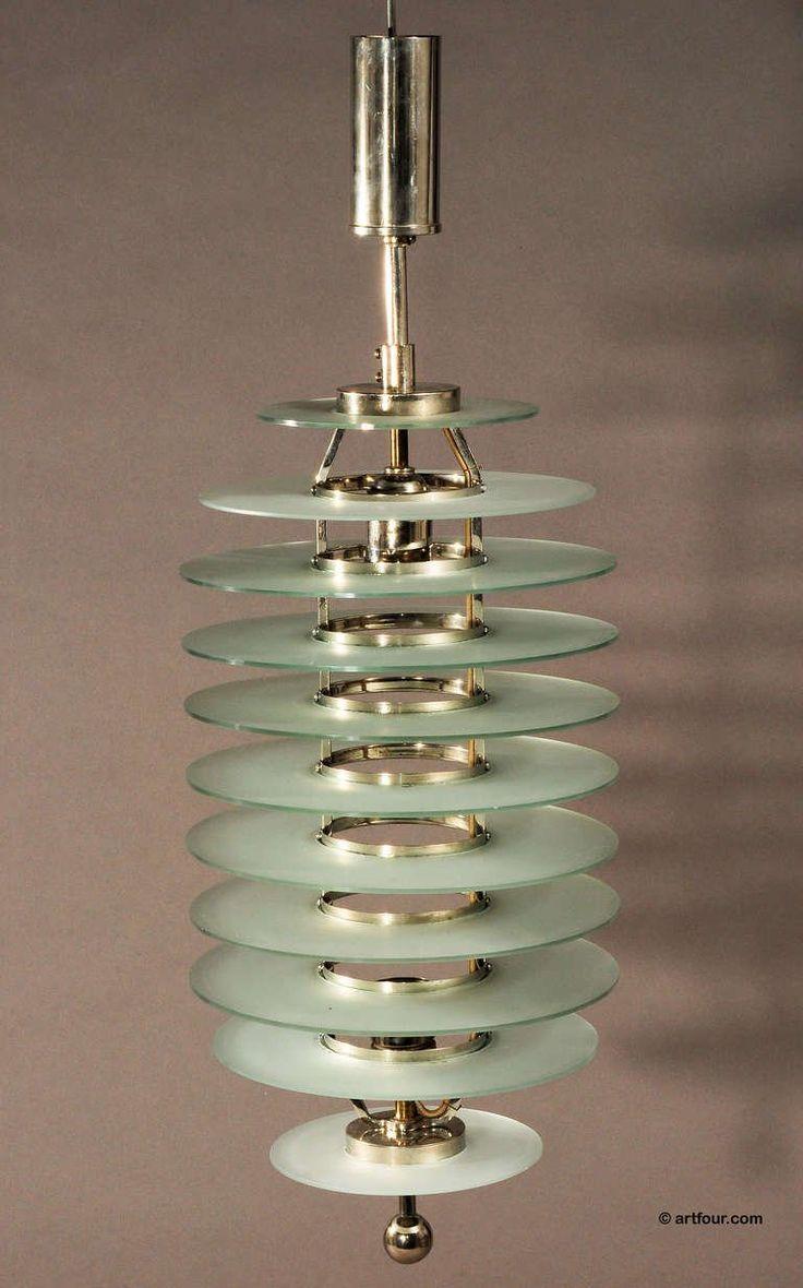 Bauhaus pendant lamp marianne brandt and hans przyrembel 1925 - Art Deco Glass Ceiling Lamp Bauhaus Style Ca 1920