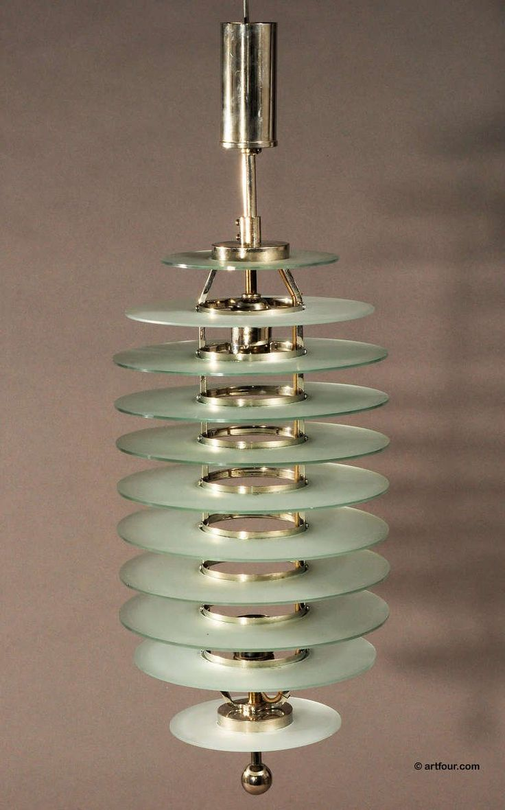 art deco glass ceiling lamp bauhaus style ca. 1920 5