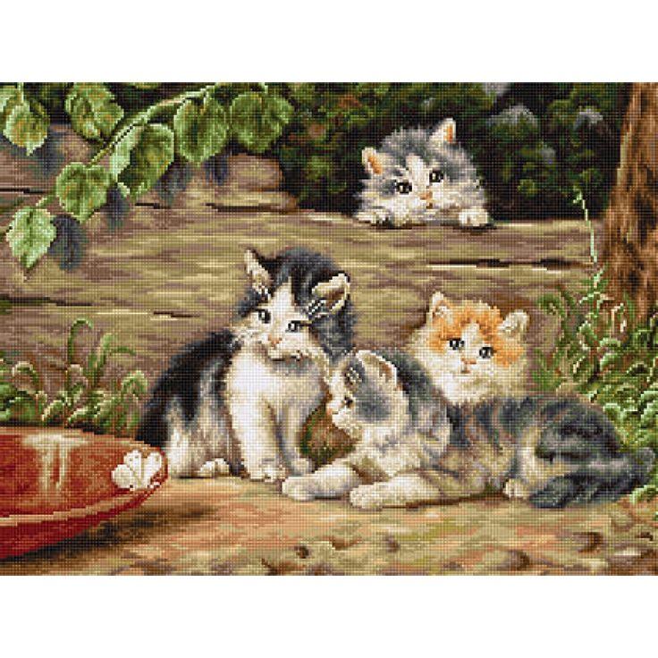 B556 Кошки. Luca-S. Набор для вышивания нитками