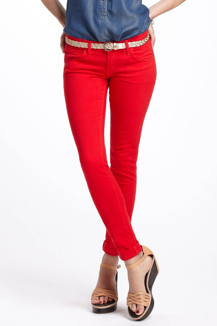 Current/Elliott Red Skinny Jeans $89.95! - Best 25+ Red Skinny Jeans Ideas On Pinterest Wear Red, Color
