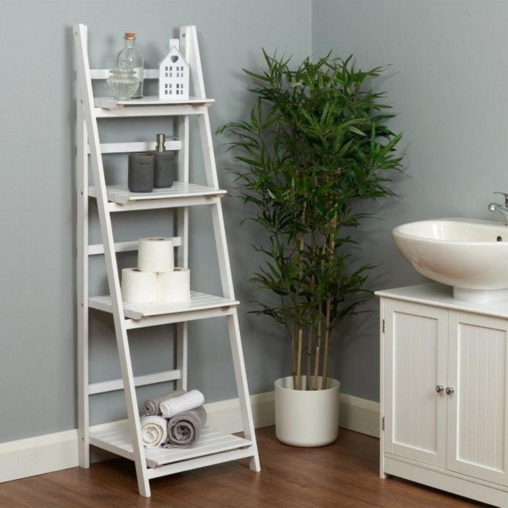 Bathroom Ladder Shelves In 2019 Bathroom Ladder Bathroom Storage Ladder Bathroom Ladder Shelf