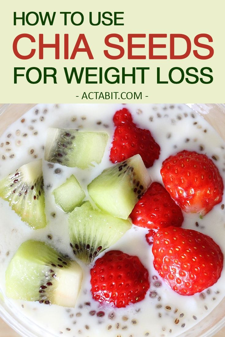 Chia seeds benefits for weight loss. You can gain many nutrition and health benefits from eating chia seeds. Use chia seeds to make a smoothie or a pudding. Get chia seed recipes. Learn how to use chia seeds for weight loss: http://www.actabit.com/chia-seeds-weight-loss/