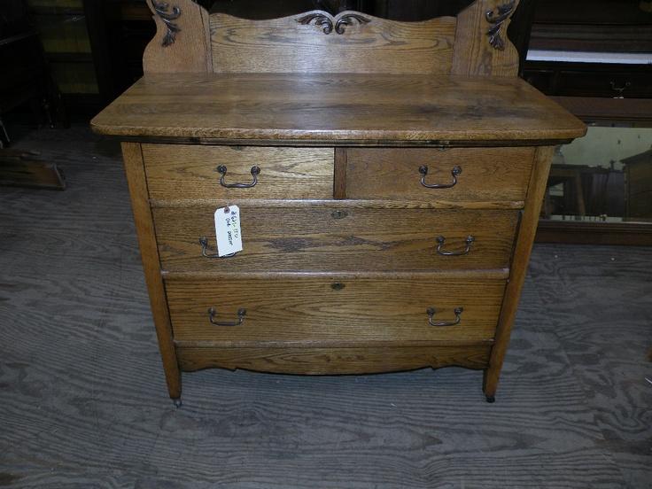 Antique Re Finished Oak Bedroom Dresser Mission Furniture