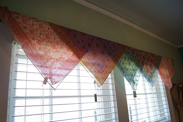 Bandana Curtain Very Simple Ideas Too Pinterest