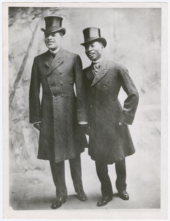 """Bert Williams and George Walker, the vaudeville team """"Williams & Walker"""" circa 1900s. I am proud to include these gentlemen in my next book, Vintage Black Glamour: Gentlemen's Quarters which will be..."""