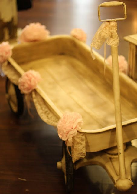 cute! Laurel can pull Ryleigh down the isle in this...if we do outdoor wedding.