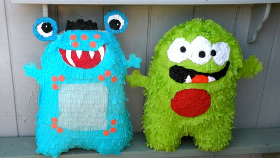 Friendly Monster Pinata Made to Order by whack on Etsy, $45.00
