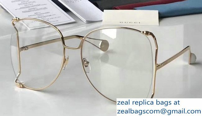 c053b49324a Gucci Butterfly Shape Oversize Round-Frame Metal Sunglasses 506215 01 2018