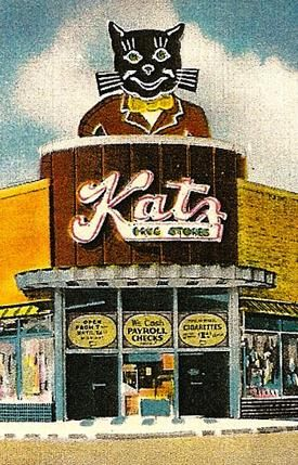 Katz Drugstore postcard, 1940's - Maplewood, Missouri