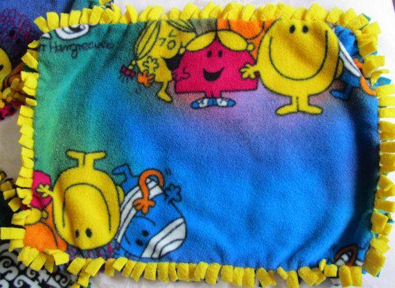 Little Miss/Mr. Men fleece tie blankets/toy by BriersBlankets