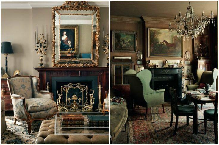 Традиционный камин в английском интерьере  #дизайн #интерьер #английский #стиль #дизайн_интерьера #дом
