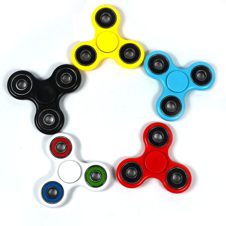 5 Warna Tri-Spinner Spinner Gelisah Mainan Anti Stres Tangan Panjang Waktu Rotasi Berputar Atas Mainan Dewasa Lucu Keren hadiah