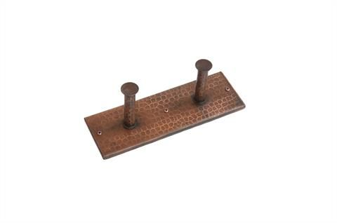 Hand Hammered Copper Double Robe Hook