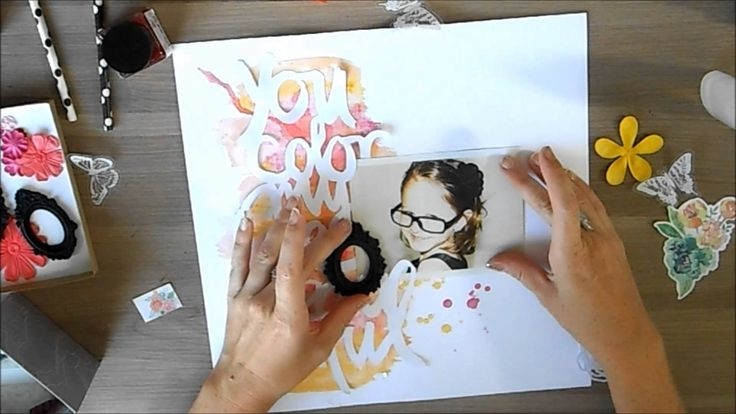 a video of my newest page | you color my life traditional scrapbook page by todido