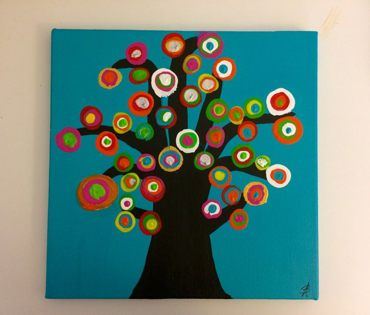 Tree1: Abstract acrylic painting by Bego Ayala